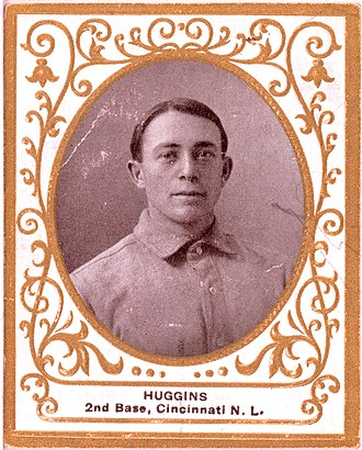 1926 World Series - Yankees manager Miller Huggins on a 1909 baseball card