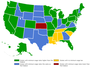 Minimum wages nationwide.