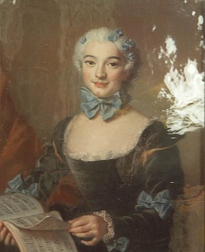 Geneviève Thiroux d'Arconville - Portrait of Mademoiselle Darlus by Charles-Antoine Coypel, 1735.