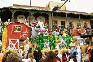 Mardi Gras in the United States -  A Mardi Gras parade on Royal Street in Mobile during the 2006 season