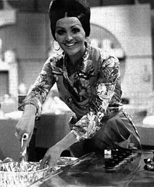 Moira Orfei in un'edizione del Radiocorriere TV del 1975