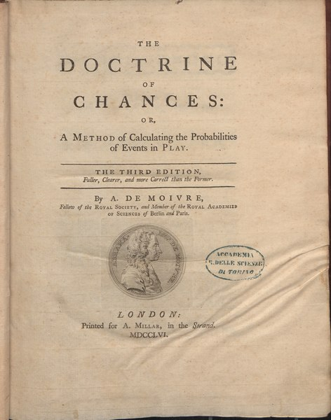 Файл:Moivre - Doctrine of chances, 1761 - 722666.tif