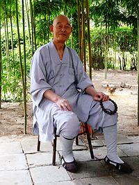 Monk at Wild Goose Pagoda, Xi'an