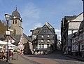 Monschau, zicht op de Markt met oa Dm227 foto10 2015-04-15 16.51.jpg