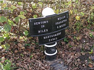 Montgomery Canal - Montgomery Canal milepost
