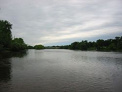 The Mississippi River as it passes through Monticello.