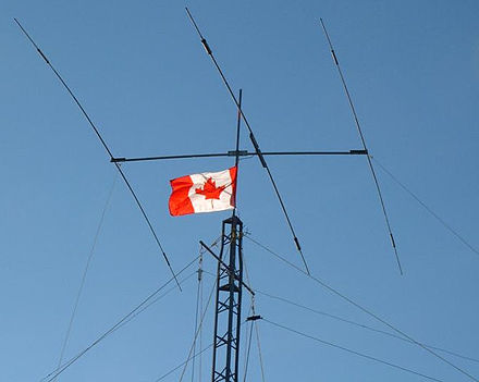 A typical Yagi antenna used by a Canadian radio amateur for long distance communication Montreal-tower-top.thumb2-crop.jpg