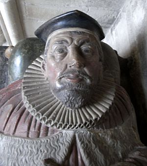 John Doddridge - Sir John Doddridge (1555–1628), Justice of the King's Bench. Detail from his effigy in the Lady Chapel, Exeter Cathedral