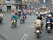 Einige der auf über 2 Millionen geschätzten Mopeds in Ho-Chi-Minh-Stadt