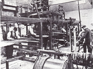 Merton Abbey Mills - Image: Morris and Company Weaving at Merton Abbey