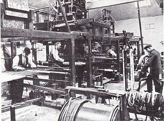 Merton Abbey Mills - Image: Morris and Company Weaving at Merton Abbey