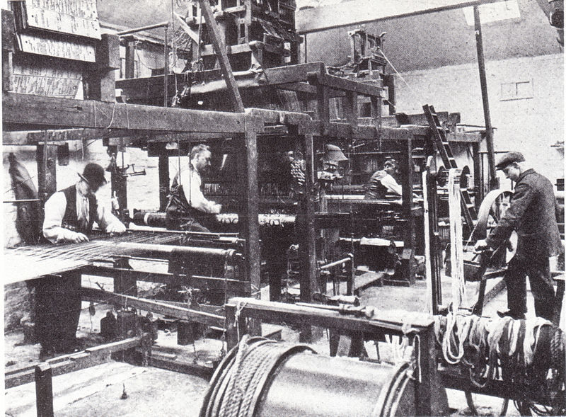 File:Morris and Company Weaving at Merton Abbey.jpg