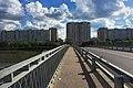 Moscow, Korneychuka Street buildings as seen from Podushkinsky overpass bridge (31570022725).jpg