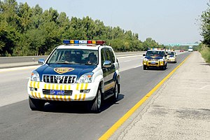 Motorways of Pakistan - Motorway police patrolling at M2