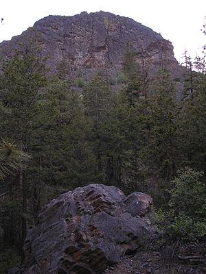Mount Boucherie - Image: Mount Boucherie east face