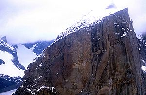 Mount Thor - View of Mount Thor summit in 1997