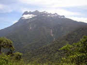 Mount Kinabalu, a major center of biodiversity in Borneo.