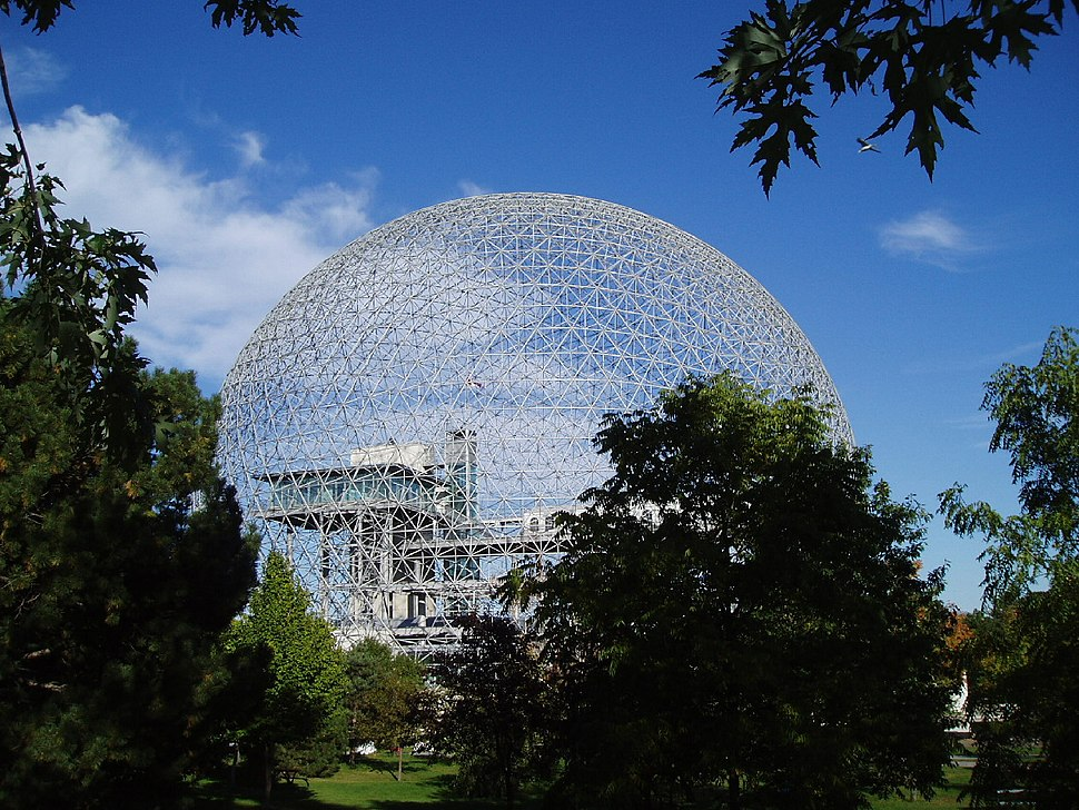 Mtl. Biosphere in Sept. 2004