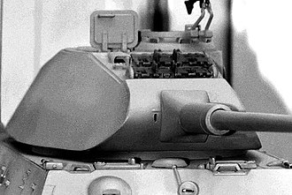 "Tiger II - A model depicting the curved front of the ""Porsche"" early production turret"