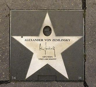 Alexander von Zemlinsky - Walk of Fame Vienna