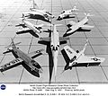 NACA Research Aircraft-Bell X-1A, D-558-1, XF-92A, X-5, D-558-2, X-4, and X-3 (19975308821).jpg
