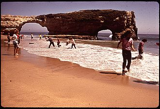 Natural Bridges State Beach - Arches at Natural Bridges in 1970