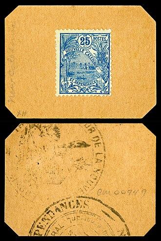 New Caledonian franc - Image: NC 23 New Caledonia 25 Centimes (1914 23)