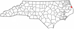Location of Manteo, North Carolina