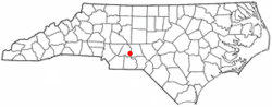 Location of Norwood, North Carolina
