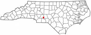 Norwood, North Carolina - Image: NC Map doton Norwood