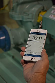 NIOSH Sound Level Meter app using iPhone 7 and external microphone