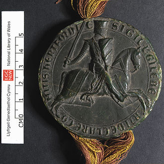 Seal (emblem) - Equestrian seal of Gilbert de Clare, earl of Gloucester and Hertford, c. 1218–1230