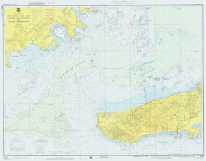 Nautical chart - A 1976 United States NOAA chart of part of Puerto Rico