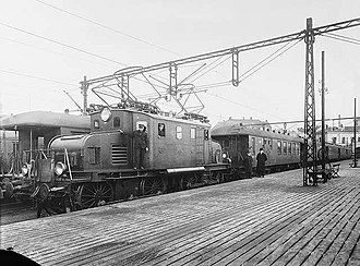 NSB El 1 - Brand new El 1 at Oslo West Station in 1922