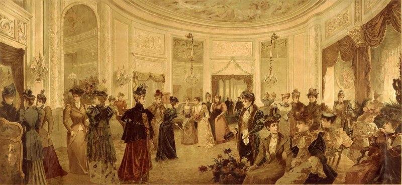 NY Octagon Room Waldof Astoria Hotel 1893
