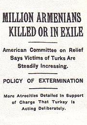 Artículo publicado en el New York Times el 15 de diciembre de 1915 sobre el genocidio.
