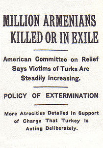 An article by the New York Times dated 15 December 1915 states that nearly one million Armenians had deliberately been put to death by the Ottoman government.