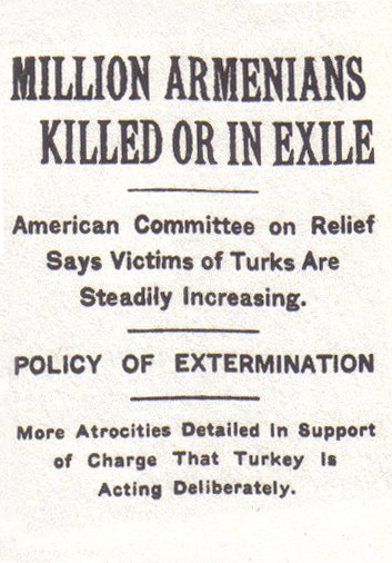 NY Times Armenian genocide