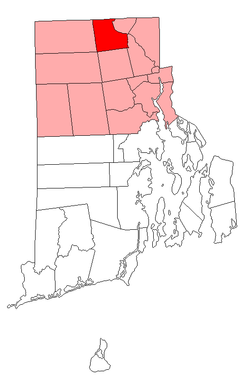 Location of North Smithfield in Providence County, Rhode Island