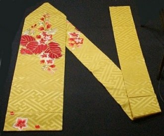 Obi (sash) - The Nagoya obi, the most popular type for kimono throughout Japan