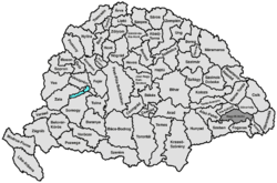 Location of Nagy-Küküllő