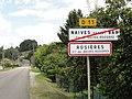 Naives-Rosières (Meuse) city limit sign Rosières.jpg