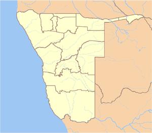 Okonjima - Okonjima's location in Namibia.