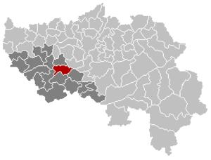 Nandrin - Image: Nandrin Liège Belgium Map