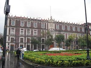 Nacional Monte de Piedad - National Monte de Piedad Building off the Zócalo in Mexico City.