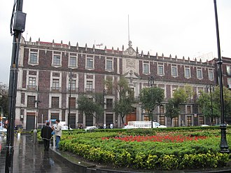 Nacional Monte de Piedad - National Monte de Piedad Building off the Zócalo in Mexico City.