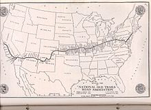 1910s 1920s National Old Trails Road Map