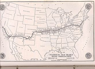 National Old Trails Road - Image: National old trails association usdotmap