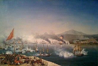 Battle of Navarino - Image: Navarin Garneray