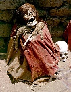 Chauchilla Cemetery cultural heritage site in Peru